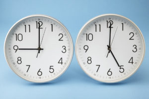 Office Clocks Showing Different Times